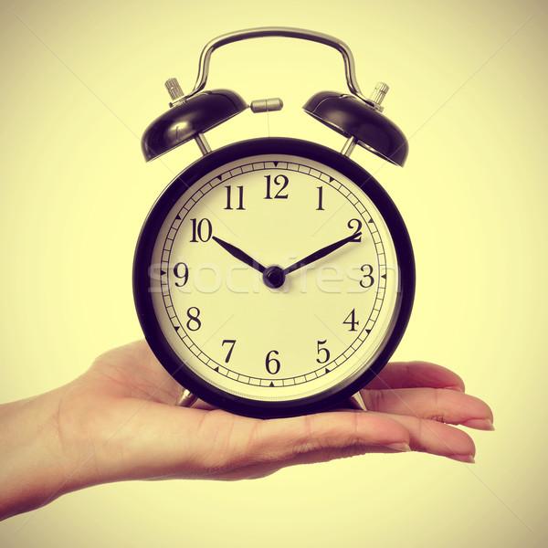 メカニカル 目覚まし時計 レトロな 効果 女性 ストックフォト © nito