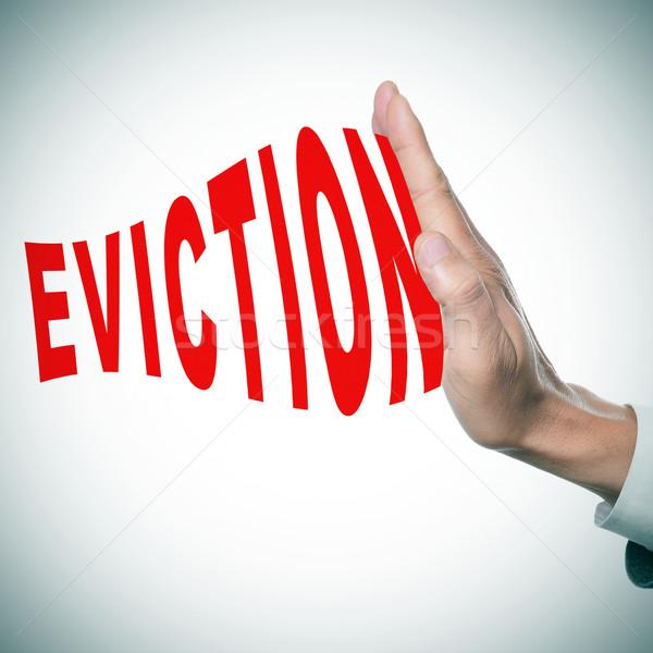 stop eviction Stock photo © nito