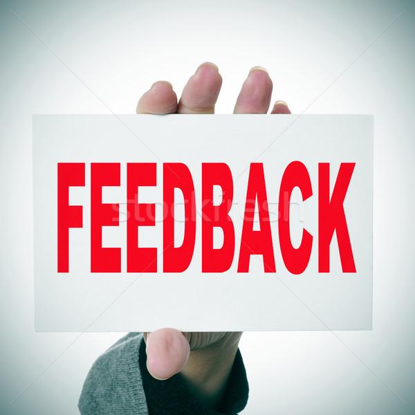 feedback Stock photo © nito