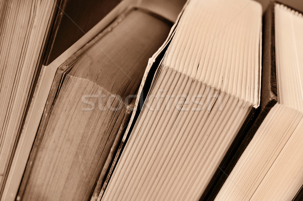 books, in sepia tone Stock photo © nito