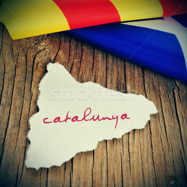 catalunya, catalonia written in catalan in a piece of paper in t Stock photo © nito