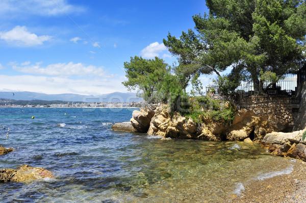 небольшой пещере французский Франция мнение Средиземное море Сток-фото © nito