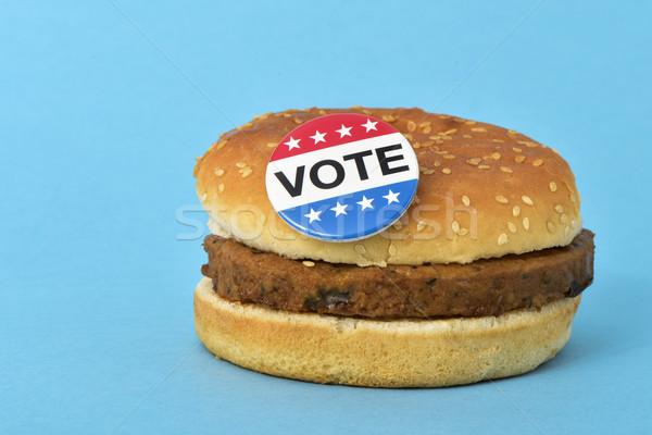 投票 針 鈕 漢堡 文本 美國 商業照片 © nito
