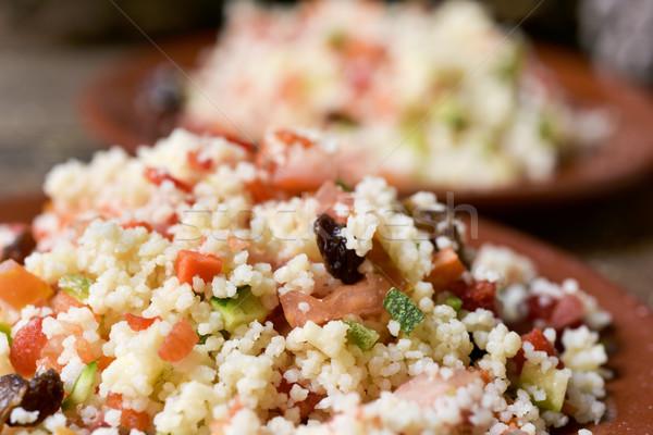 Típico árabes ensalada primer plano placas casero Foto stock © nito