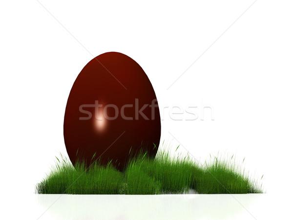 восточных яйцо большой шоколадом трава продовольствие Сток-фото © njaj