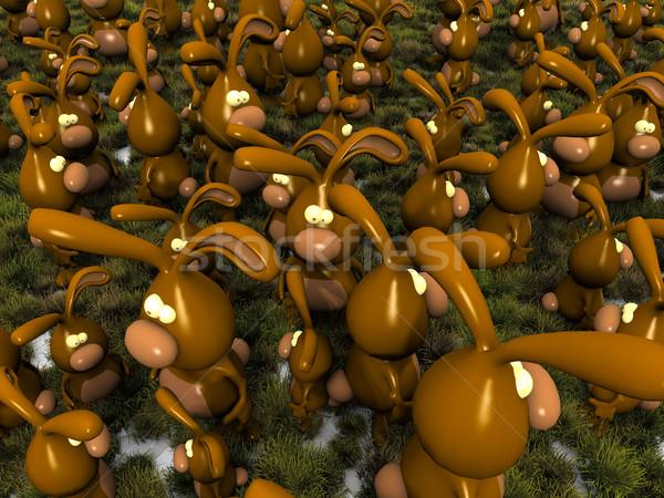 easter  bunnies chocolate Stock photo © njaj