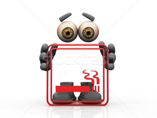 smoking symbol on a white background  Stock photo © njaj