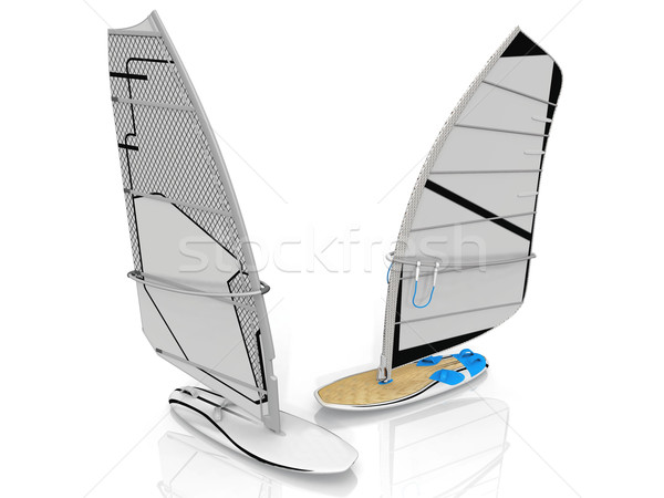 sailing surf on a white background Stock photo © njaj