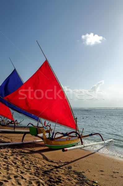 Balıkçı tekne bali plaj balık güneş Stok fotoğraf © njaj