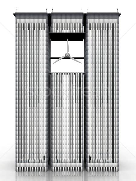 building with a wind turbine Stock photo © njaj