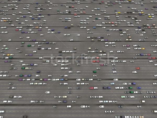 Estradas carro fora vista estrada urbano Foto stock © njaj