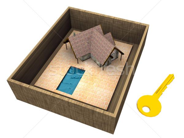 house and key Stock photo © njaj