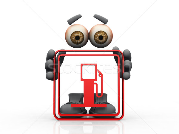gas station symbol on a white background  Stock photo © njaj