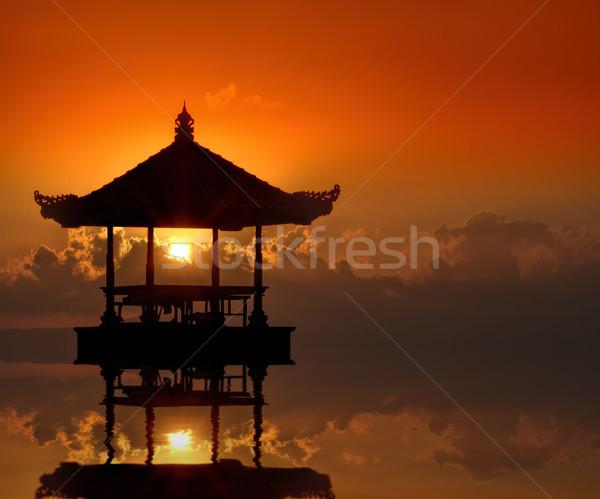 日没 バリ ビーチ 空 水 太陽 ストックフォト © njaj