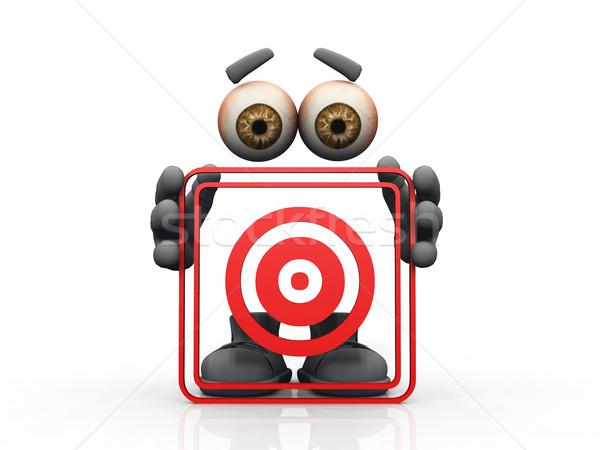 target symbol on a white background  Stock photo © njaj
