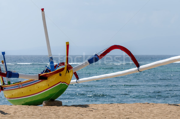 fisherman boat in Bali Stock photo © njaj