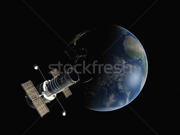 Earth on a background of stars Stock photo © njaj