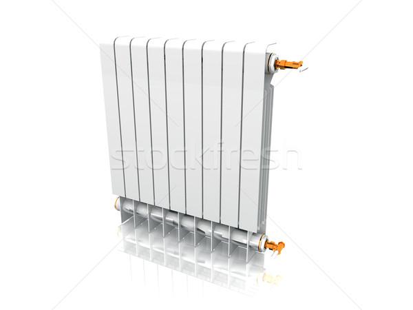 Radiator computer gebouw energie kleur witte Stockfoto © njaj