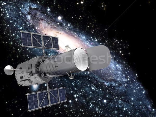 satellite and galaxy Stock photo © njaj