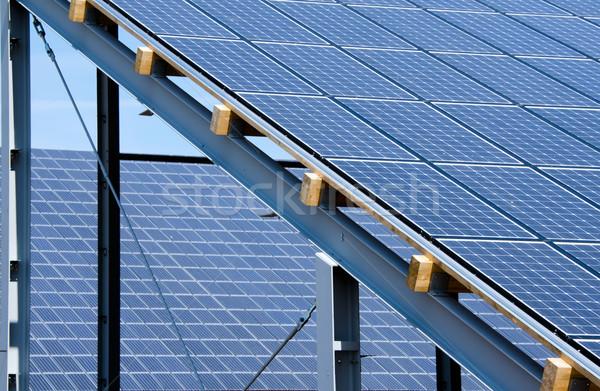 solar panels Stock photo © njaj