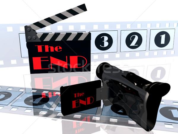 Film wideo czarny retro pokładzie Zdjęcia stock © njaj