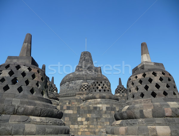 Borobudur in Java in Indonesia Stock photo © njaj