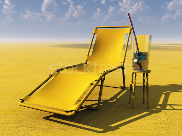 lounge chair and drink Stock photo © njaj