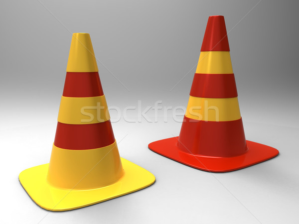 the traffic cone Stock photo © njaj