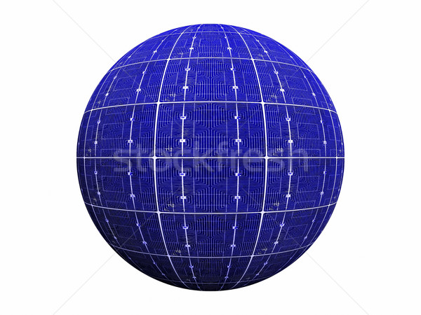 ball of blue photovoltaic  cells Stock photo © njaj