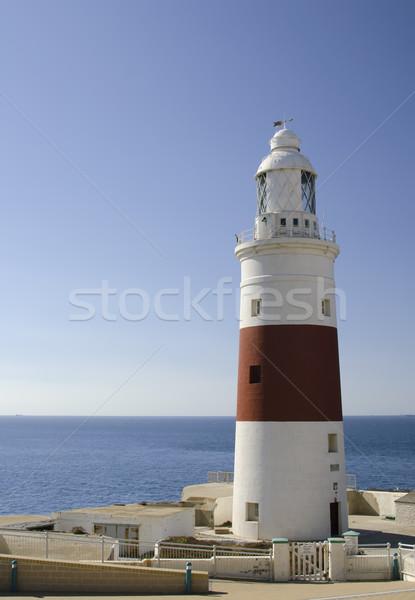 Latarni gibraltar ocean bezpieczeństwa bezpieczne punkt Zdjęcia stock © njaj