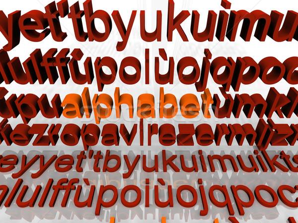 Alfabeto perdido cartas carta branco aprendizagem Foto stock © njaj