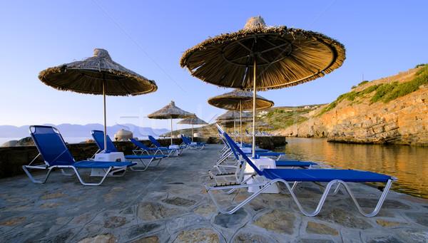 parasols and deckchairs Stock photo © njaj