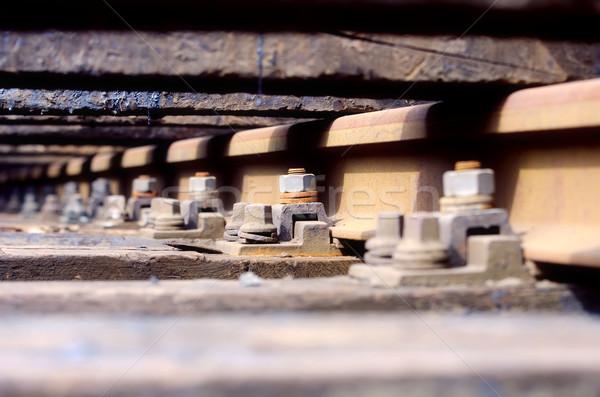 Ferrocarril tecnología óxido acero transporte hierro Foto stock © njaj