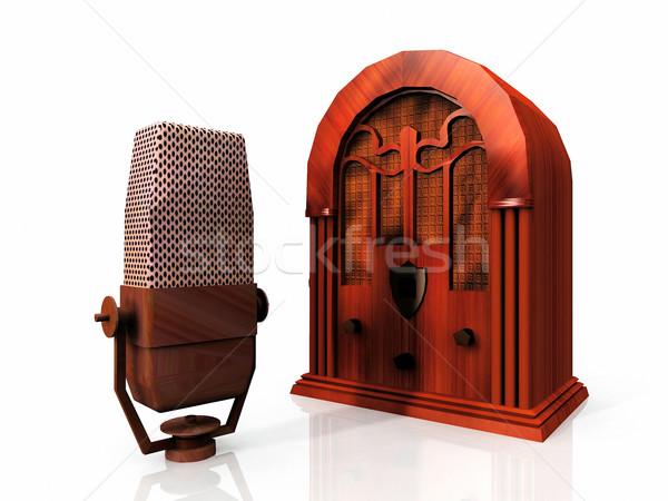 Foto stock: Velho · rádio · microfone · música · metal · concerto