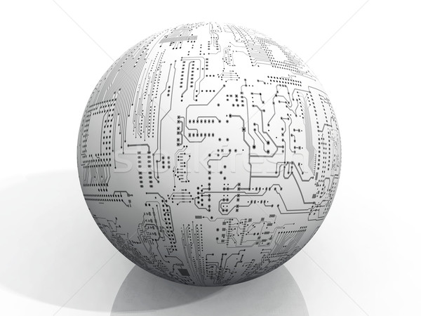 Stock photo: the ball of printed circuit boards