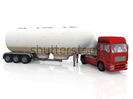 truck  transportation of wood  on white background Stock photo © njaj