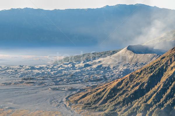 Jawa krajobraz parku gazu wspinaczki przygoda Zdjęcia stock © njaj