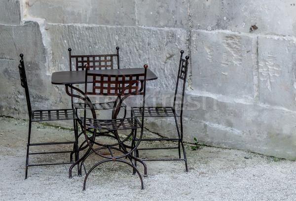 wrought iron furniture Stock photo © njaj