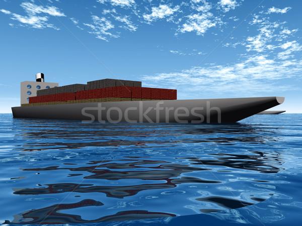 Navio porta-contentores mar barco indústria navio expedição Foto stock © njaj