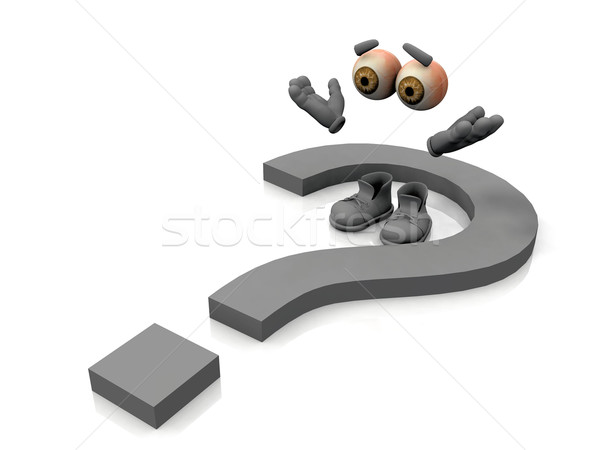 the invisible men and the question mark Stock photo © njaj