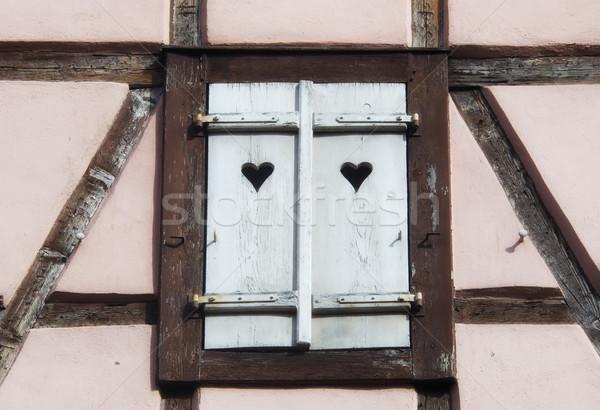 Windows жалюзи дома домой архитектура структуры Сток-фото © njaj
