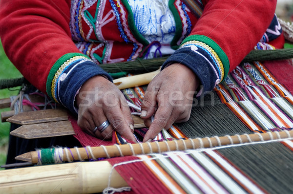 weaving in peru Stock photo © njaj