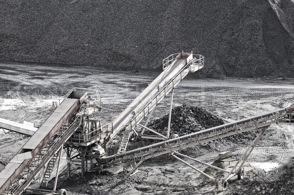 shale pit and conveyor belts Stock photo © njaj