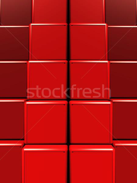 block  packed red painting Stock photo © njaj