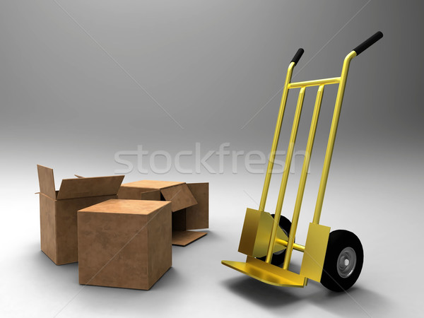 a trolley and cartons Stock photo © njaj
