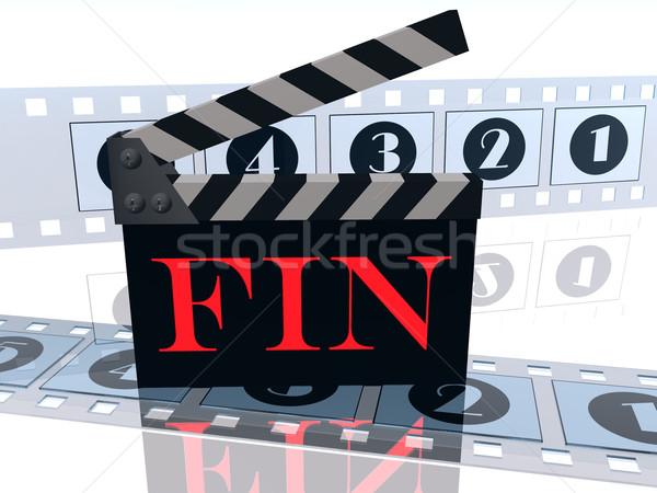 Befejezés televízió film videó szórakoztatás előadás Stock fotó © njaj