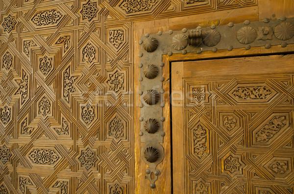 Kapı alhambra inşaat dizayn seyahat kale Stok fotoğraf © njaj