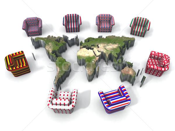 g8 and earth map Stock photo © njaj