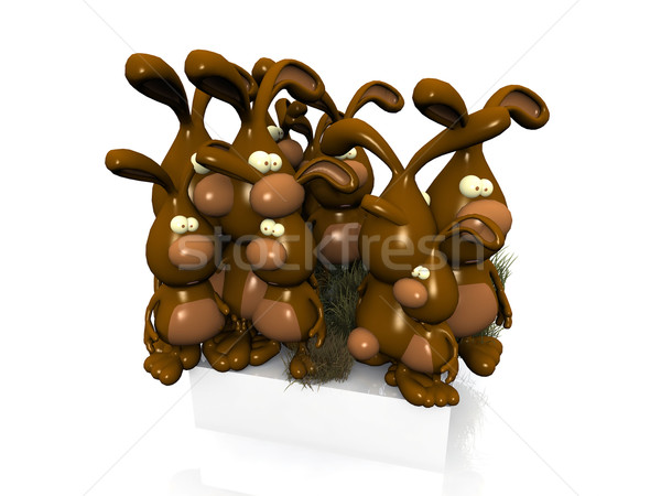 easter  bunnies chocolate Stock photo © njaj