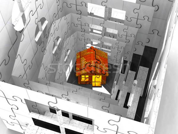 домах здании строительство домой интерьер жизни Сток-фото © njaj